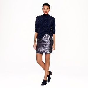 J. Crew sequin skirt straight cut pencil party